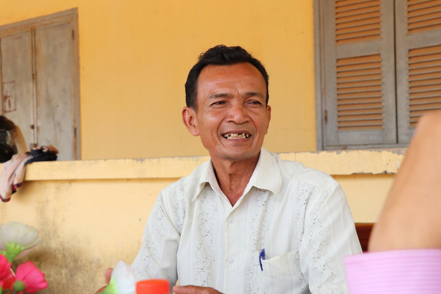 Phuok Nuok, School Director of Thmor Sor lower secondary school in Thmor Sor village at Takeo province.