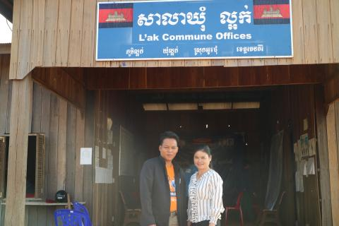 Ms. Kron Chanthea, L'ak commune chief (right) and Mr. Bean Yem, second deputy chief of commune (left)