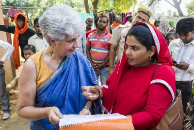 UNICEF India Representative Dr. Yasmin Ali Haque and woman