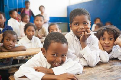 Children in school in Madagascar