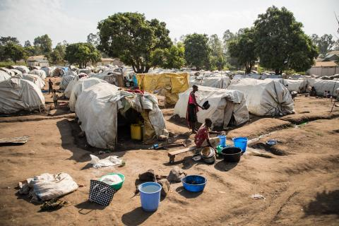 A displacement camp in Bunia in northeastern DRC