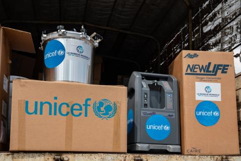 The World Bank and UNICEF deliver a large consignment of health equipment and materials as part of the response to COVID-19 in DRC