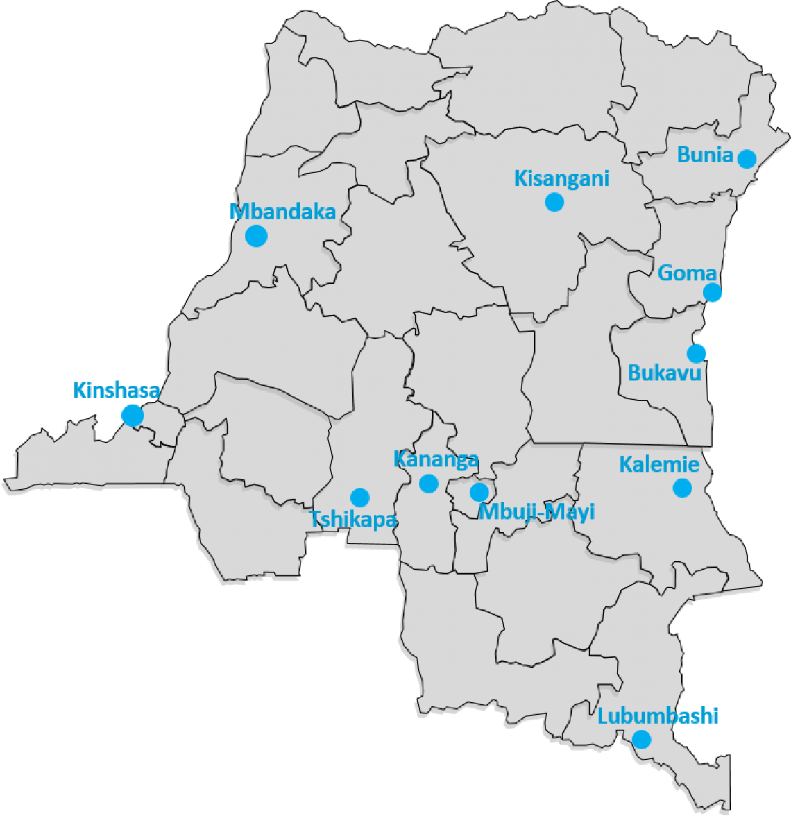 UNICEF offices in the Democratic Republic of Congo