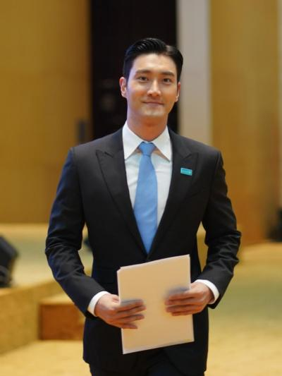 siwon choi with unicef