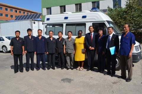 ambulances provided to hospitals in DPR Korea