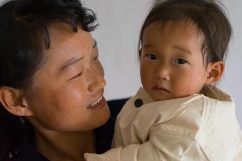 Kim Su Hyang, 16 months old, was severely malnourished