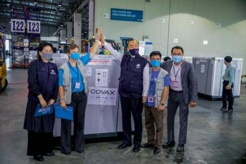 First shipment of COVID-19 vaccine doses arrive in Vietnam