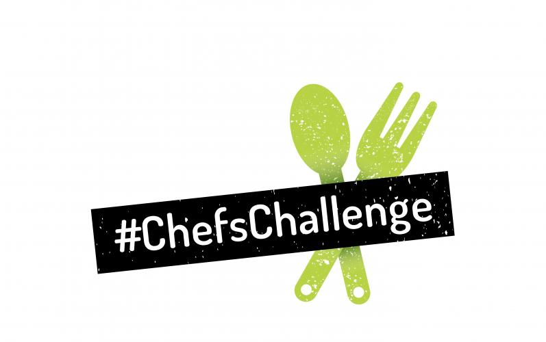 Chefs Challenge logo with fork and spoon