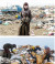people on a dumping ground site