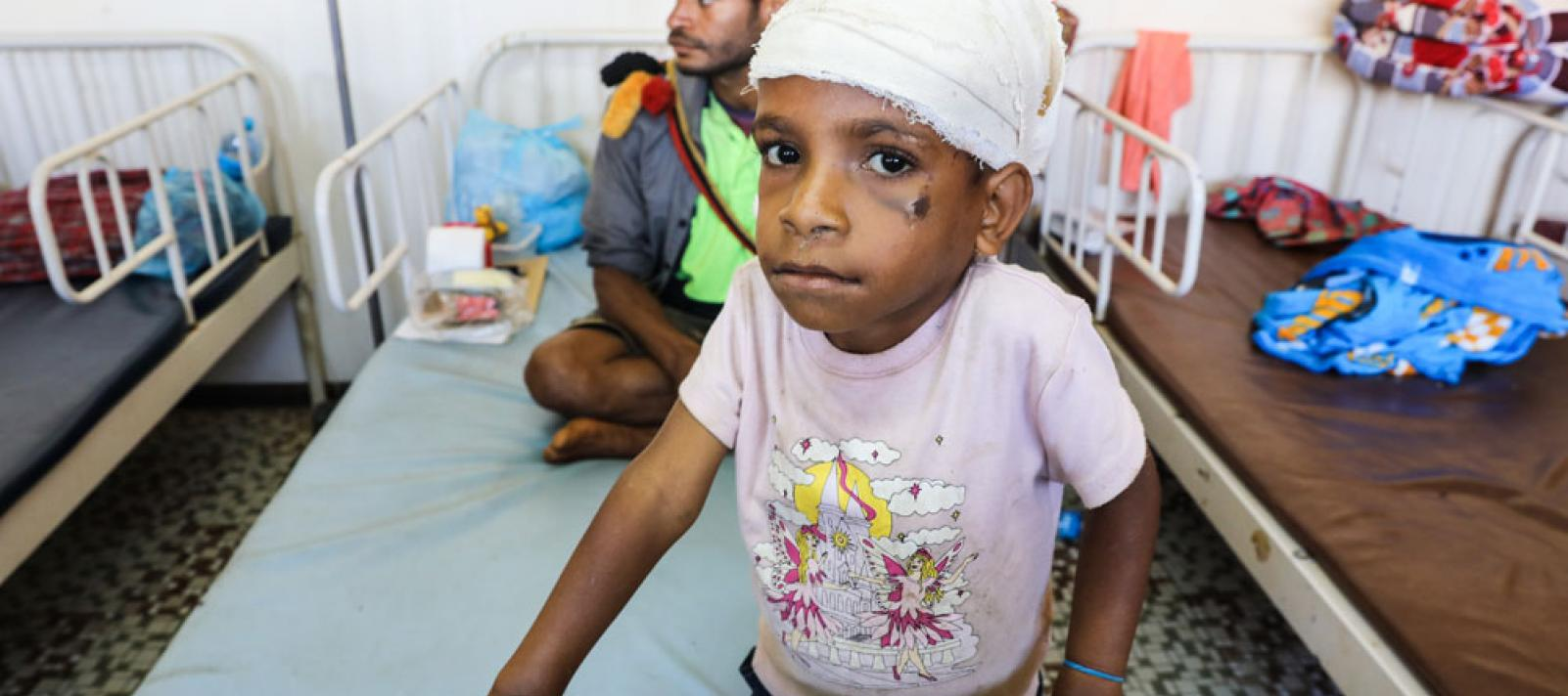 Douglas Jacob (5 years old) was hit in the head by falling rocks during the landslides triggered by the earthquakes