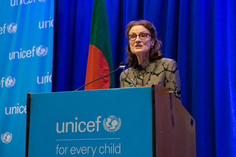 Henrietta with UNICEF logo
