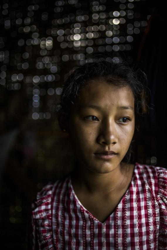 Portrait of Seng Hkawn, a 15-year-old ethnic Kachin girl