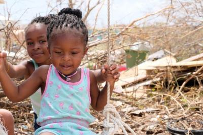 Child in Anguilla after the Hurricane