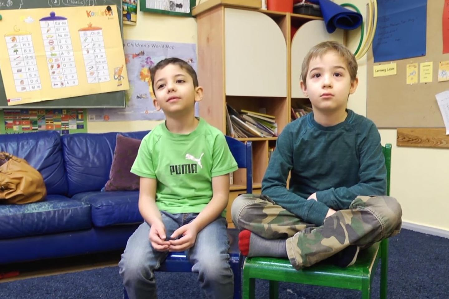 Nawwar from Syria and Alec from Germany. These 7-year-olds live out the definition of friendship.