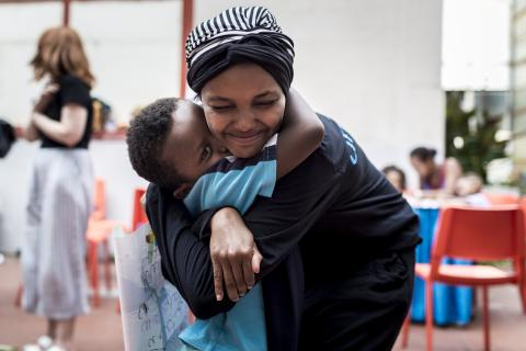 Halima Aden Visits UNICEF Programming in Italy