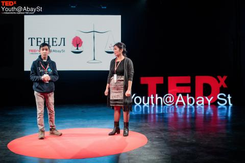 During the first TEDxYouth event organized on 17 November in Kazakhstan, Baurzhan, age 13, and his mother Aliya spoke about living openly with HIV.