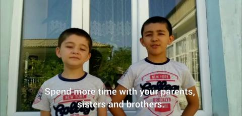 Tajik teenagers