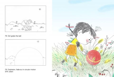 Images from the storyboard created by Andriy Dorodkin for his CUNY/UNICEF class.