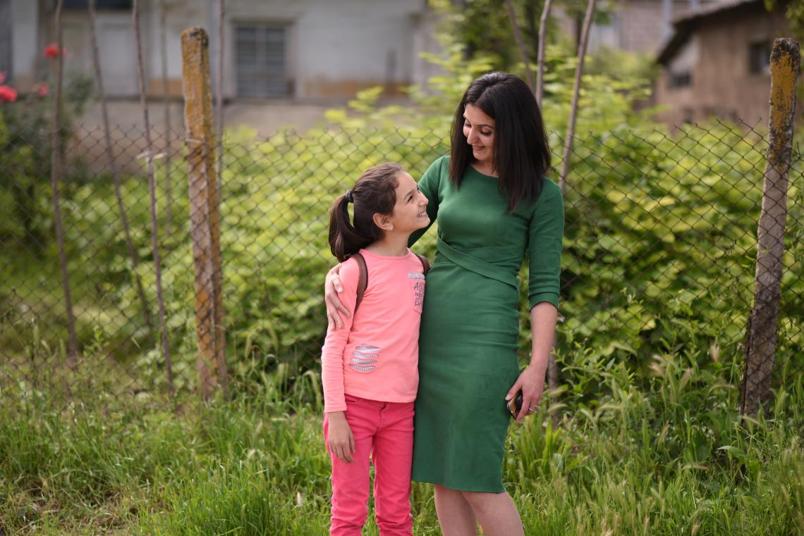 A mother and daughter who live in Nerqin Tsakhkavan village in Armenia.