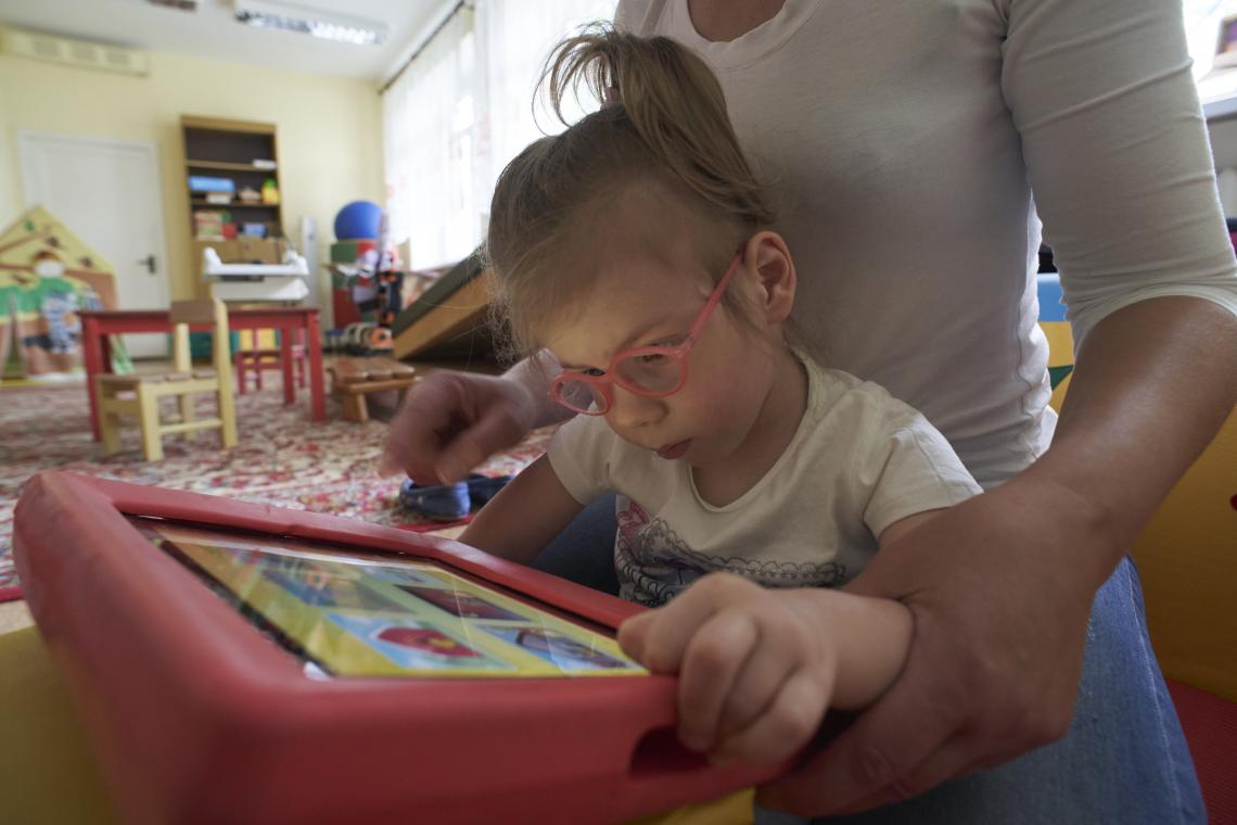 Agatha attends an Early Childhood Intervention (ECI) Centre in Minsk, Belarus.
