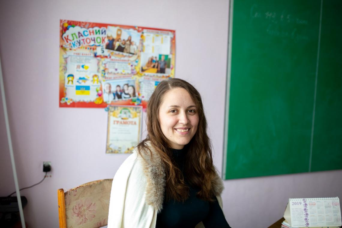 English teacher Daryna first moved to Novotoshkivske in 2017. It took the 25-year-old just two years to win the students' hearts.
