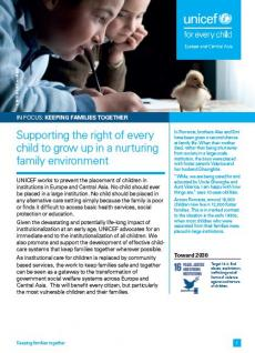 In focus - keeping families together - cover