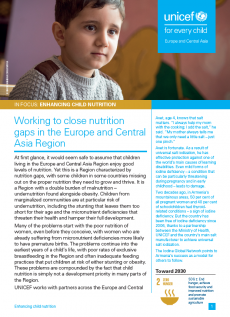 in focus on nutrition report cover