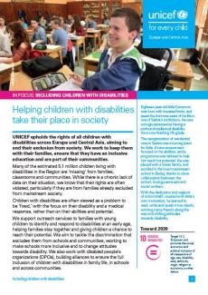 Cover image of in focus disability report