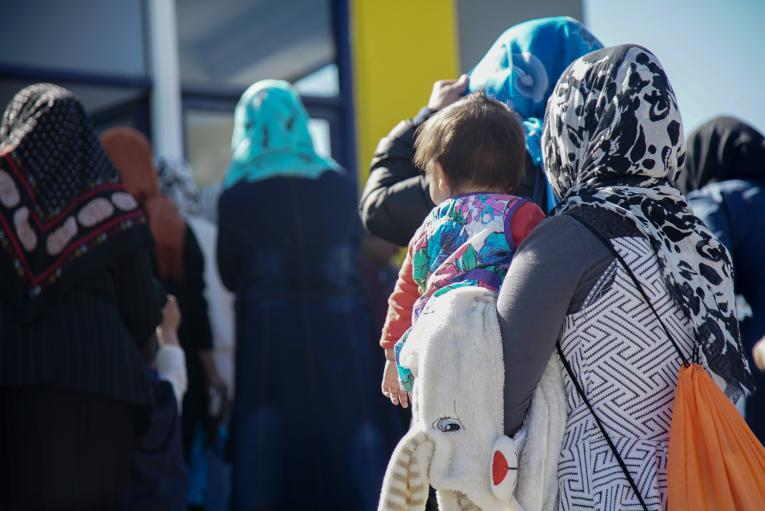Children and young women living in Moria Reception and Identification Centre in Lesvos, Greece.