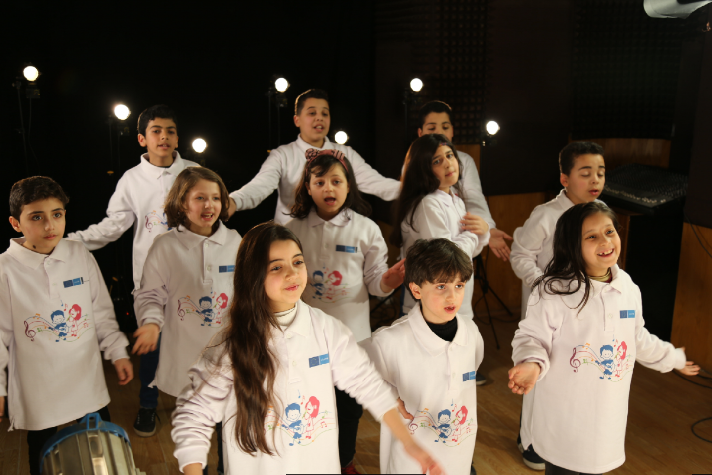 On the eighth anniversary of the war in Syria, UNICEF re-produced 11 children's songs produced in 1976 to be performed by children from Syria and neighboring countries. These songs are some of the region's favorites. They were written by the artist Elias Rahbani during the war in Lebanon.