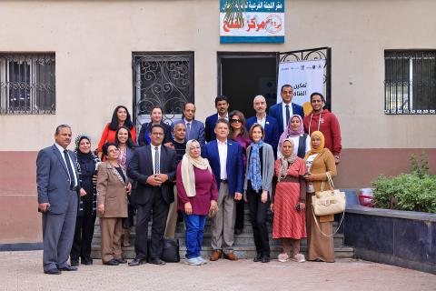 THE MINISTRY OF YOUTH AND SPORTS, UNICEF AND USAID CONDUCT A VISIT FOCUSING ON ADOLESCENT DEVELOPMENT IN ASSIUT