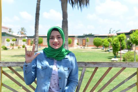 Aya studies at the Faculty of Education with a major in 'special needs