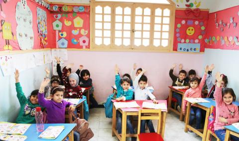 A Syrian family launches a community school for children from all nationalities in Egypt