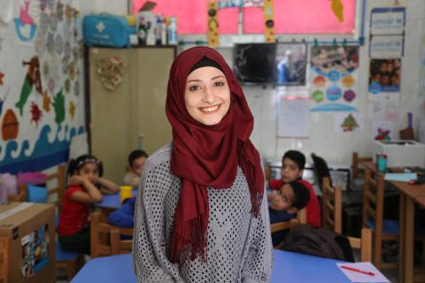 Rawan's involvement in UNICEF activities inspired her to choose a career path to help uprooted children