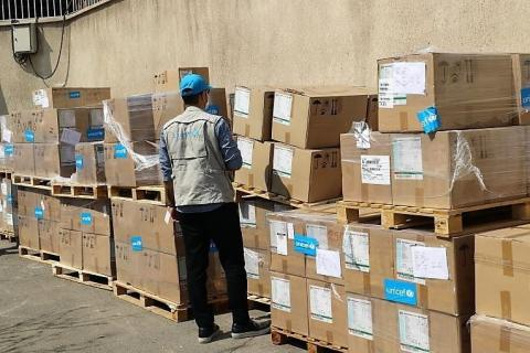 Despite challenges, UNICEF continues to ship vital supplies to affected countries amid soaring number of COVID-19 cases