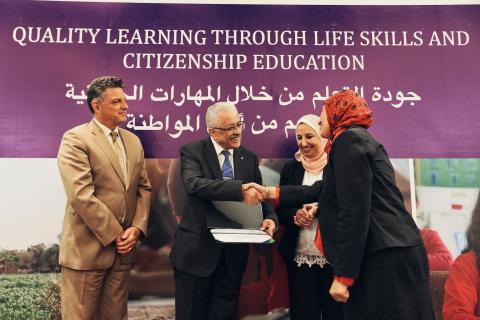 "The Ministry of Education and Technical Education and the United Nations Children's Fund celebrate ""Education 2.0"" key achievements."