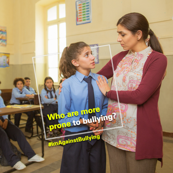Who are more prone to bullying?