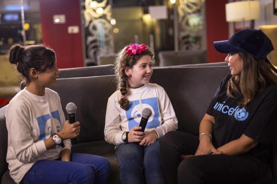 16e6cbf9a UNICEF Egypt's Ambassador Mona Zaki-Children Take over