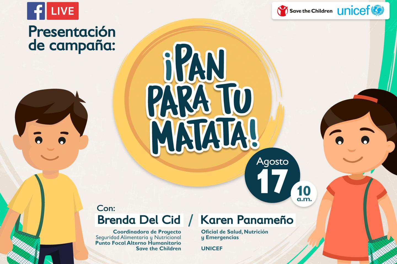 Campaña promueve la nutrición y alimentación sana durante la pandemia por  COVID-19   UNICEF El Salvador