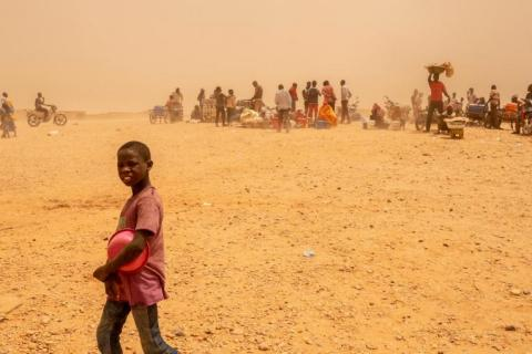 Refugee child in Niger