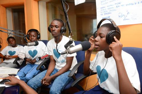 Young people make their own radio programmes in Mozambique