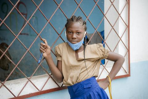 SAFOULA Lovely, 10 years old, student in grade 10