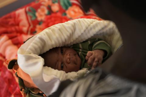 A new born baby inside Rukunyu hospital, Kamwenge District, Uganda.