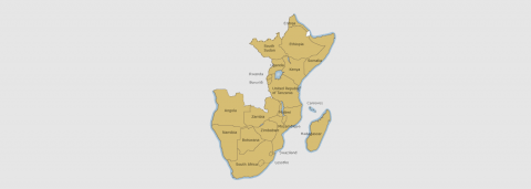 Map of East and Southern Africa