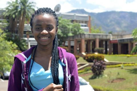 Tiffany Kapanda, 18, is studying arts and humanities at Chancellor College in Zomba