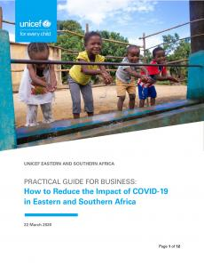 PRACTICAL GUIDE FOR BUSINESS: How to Reduce the Impact of COVID-19 in ESAR