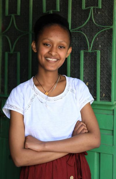 Sihinemariam Sisay's family used to follow the education programme using a small-size television set and their efforts were noticed by the Addis Ababa Education Bureau.