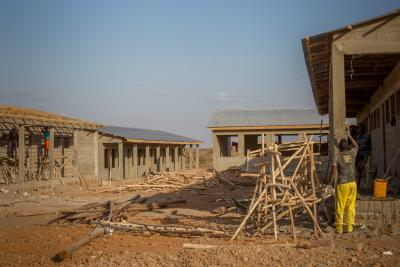 a new high quality secondary school is nearly complete and sits just walking distance from where Abdimajid lives. The construction is implemented by UNICEF with support from the Ministry of Education (MoE) and follows all standards set by the MoE.