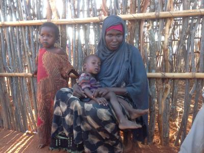 Salo Abdi (40), a mother of two young children also takes care of her brother's daughter.