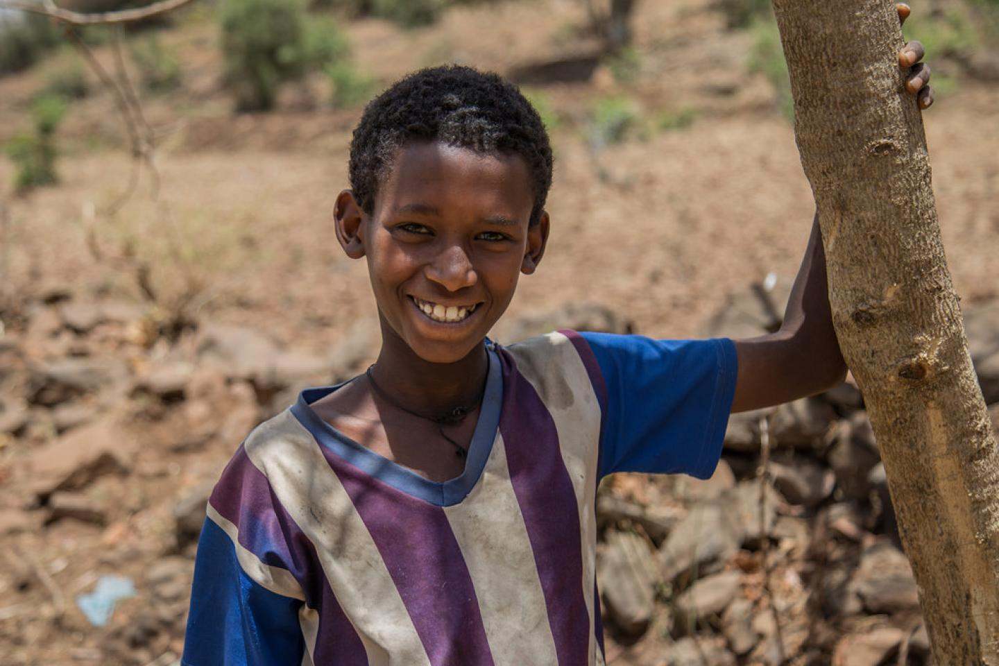 "Metadel Maru, 12, grade 4 student. ""I want to be a Nurse. I want to help my community"" Yifag Kebele Akababi, Amhara Region"